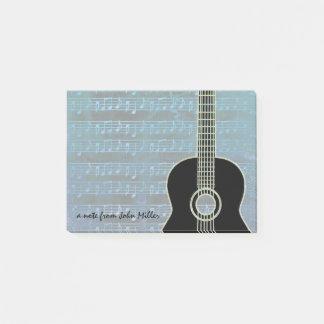Bloquinho De Notas Guitarra das notas azuis
