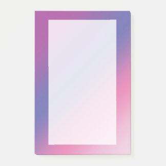 Bloquinho De Notas inclinação azul roxo cor-de-rosa elegante do ombre