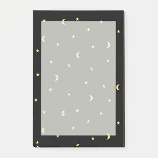 Bloquinho De Notas Lua e estrelas do ouro