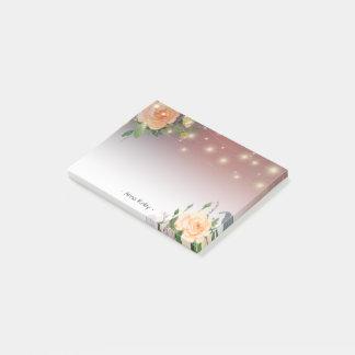 Bloquinho De Notas Luzes florais da corda da aguarela elegante de