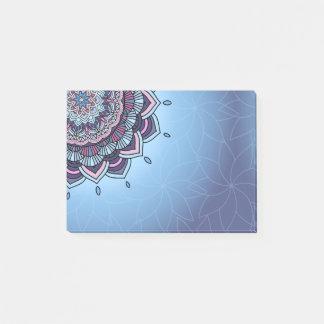 Bloquinho De Notas Mandala azul profunda ID361 do fulgor
