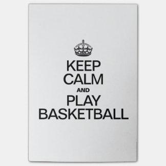 Bloquinho De Notas Mantenha o basquetebol da calma e do jogo