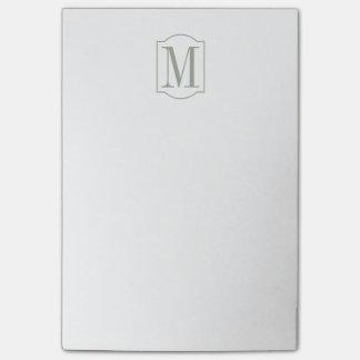 Bloquinho De Notas Monograma minimalista elegante prudente do deserto