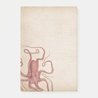 Bloquinho De Notas Natureza silenciado do polvo de Steampunk do rosa