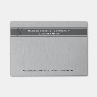 Bloquinho De Notas Notas cinzentas do Cargo-it® do monograma moderno