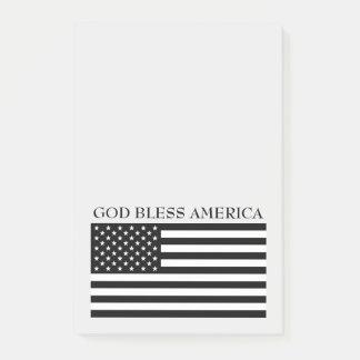 Bloquinho De Notas Notas da bandeira de América dos deus abençoe