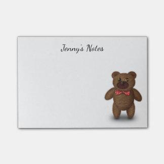 Bloquinho De Notas Notas de post-it bonitos do urso de ursinho