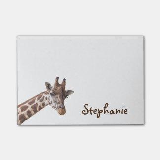 Bloquinho De Notas Notas de post-it conhecidas femininos do girafa