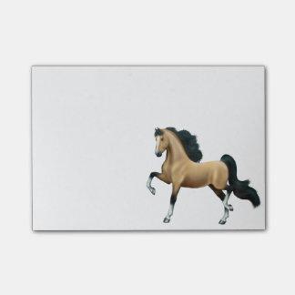 Bloquinho De Notas Notas de post-it do cavalo de Saddlebred Gaited do