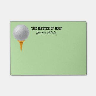 Bloquinho De Notas Notas de post-it do golfe