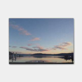 Bloquinho De Notas Notas de post-it do por do sol do lago