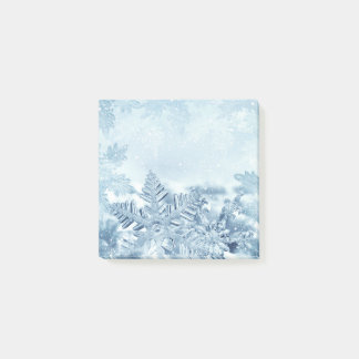 Bloquinho De Notas Notas do Cargo-it® dos cristais do floco de neve