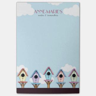 Bloquinho De Notas Notas & lembretes coloridos dos Birdhouses