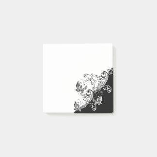 Bloquinho De Notas Notas preto e branco do Cargo-it® da borboleta