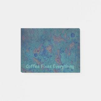 Bloquinho De Notas O café fixa tudo