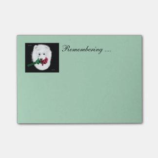 Bloquinho De Notas O Cargo-it® do Samoyed nota 4 x 3; Recordando