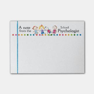 Bloquinho De Notas O divertimento do psicólogo da escola caçoa notas