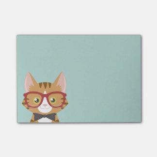 Bloquinho De Notas O gato alaranjado do hipster do gato malhado caçoa