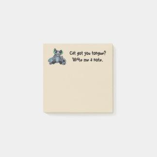 Bloquinho De Notas O gato obteve sua Cargo--nota da língua