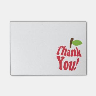 Bloquinho De Notas Obrigado vermelho você apreciação de Apple