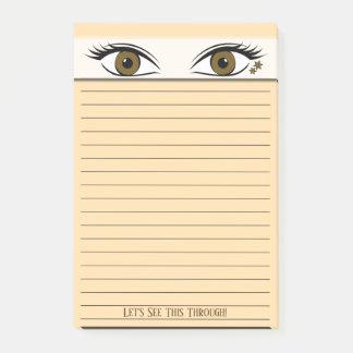 Bloquinho De Notas Olhos observadores de Brown no auge do preto