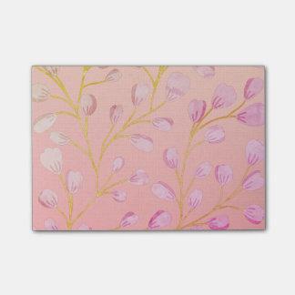 Bloquinho De Notas Ombre cora notas de post-it cor-de-rosa das flores
