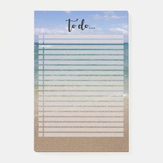 Bloquinho De Notas Opinião da praia para fazer a lista
