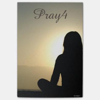 Bloquinho De Notas Oração Pray4 cristã (use para possuir a foto)