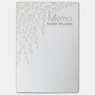 Bloquinho De Notas Os ramos do salgueiro personalizaram a almofada de
