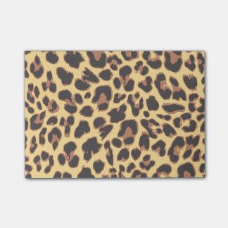 Bloquinho De Notas Padrões da pele animal do impressão do leopardo