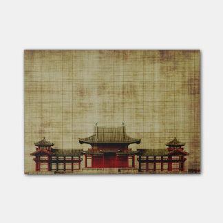 Bloquinho De Notas Palácio asiático em notas de post-it do pergaminho