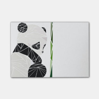 Bloquinho De Notas Panda triste geométrica