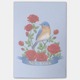Bloquinho De Notas Pássaro e flor de Estados de Nova Iorque