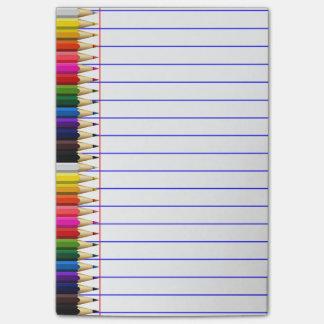 Bloquinho De Notas Pensionista ordenado do lápis