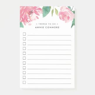 Bloquinho De Notas Peônia de florescência | personalizado para fazer