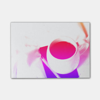 Bloquinho De Notas Pequeno almoço do chá do arco-íris no copo de café