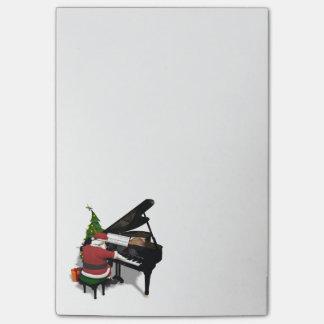 Bloquinho De Notas Pianista musical de Papai Noel