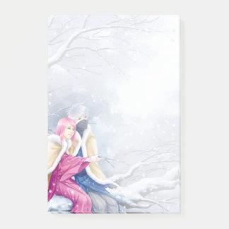 Bloquinho De Notas Post-it da queda de neve de KakaSaku