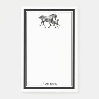 Bloquinho De Notas Potro do bebê da mãe dos cavalos quadro