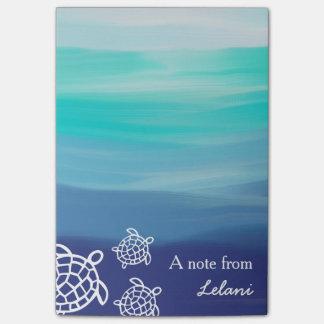 Bloquinho De Notas Praia personalizada do oceano das tartarugas de