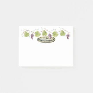 Bloquinho De Notas PurpleGrape aglomera as folhas da uva - hora | do