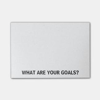 Bloquinho De Notas Que são seus objetivos? Notas do Cargo-it®