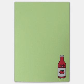 Bloquinho De Notas Rico do condimento da mesa do molho de tomate da