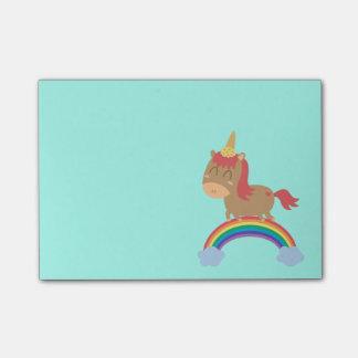 Bloquinho De Notas Sonhos bonitos do cavalo a ser humor do unicórnio