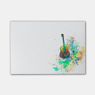 Bloquinho De Notas Splatter da guitarra