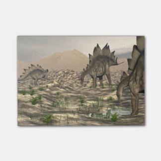 Bloquinho De Notas Stegosaurus perto da água - 3D rendem