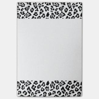Bloquinho De Notas Teste padrão animal do impressão do leopardo preto