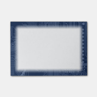 Bloquinho De Notas Teste padrão azul do circuito do cartão-matriz do
