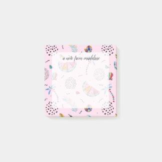 Bloquinho De Notas Teste padrão cor-de-rosa tropical do estilo de