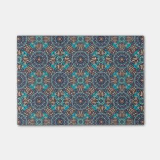 Bloquinho De Notas Teste padrão floral étnico abstrato colorido da